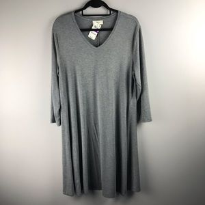 Style & Co NWT XXL heathered Gray Super Soft Dress